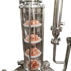 4 Plate Glass Column